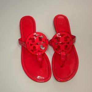 Tory Burch Miller Logo Sandal Neon Pink Size 9